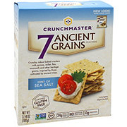 Crunchmaster Gluten Free Hint of Sea Salt 7 Ancient Grains Crackers