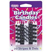 Culpitt Dots with Stripes Birthday Candles