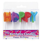 Culpitt Happy Birthday Letter Candles
