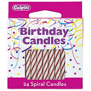 Culpitt Red Spiral Birthday Candles