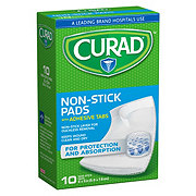 Curad Non-stick Pads With Adhesive Tabs