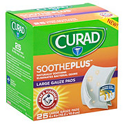 Curad Soothe Plus Arm & Hammer Large Gauze Pads