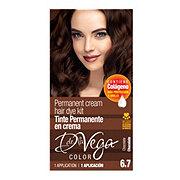 D De La Vega Cream Hair Dye Kit, 6.7 Chocolate
