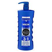 Daily Defense Polo Black 3N1 Shampoo Conditioner Body Wash