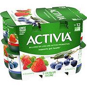 Dannon Activia 1.5% Milkfat Blueberry/ Strawberry Low Fat Yogurt