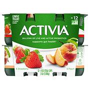 Dannon Activia 1.5% Milkfat Peach/ Strawberry Low Fat Yogurt