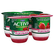 Dannon Activia Fruit Fusion Strawberry And Raspberry Yogurt