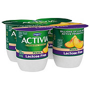 Dannon Activia Lactose Free Low-Fat Peach Yogurt