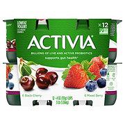 Dannon Activia Low-Fat Black Cherry & Mixed Berry Yogurt Variety Pack