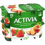 Dannon Activia Low-Fat Peach & Strawberry Yogurt