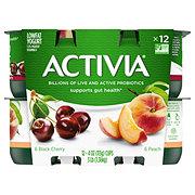 Dannon Activia Low-Fat Peach & Black Cherry Yogurt