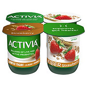 Dannon Activia Low Fat Strawberry and Cereal Yogurt with Fiber
