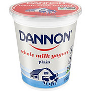 Dannon All Natural Whole Milk Plain Yogurt