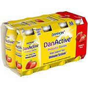 Dannon DanActive Strawberry Flavored Family Size Probiotic Dairy Drink