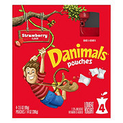 Dannon Danimals Squeezable Strawberry Milkshake Yogurt