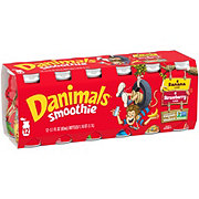 Dannon Danimals Strawberry & Banana Split Smoothie 3.1 oz Bottles Variety Pack
