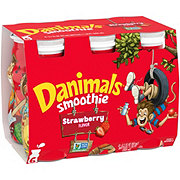 Dannon Danimals Strawberry Explosion Smoothie 3.1 oz Bottles