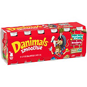 Dannon Danimals Strawberry & Strawberry-Kiwi Smoothie 3.1 oz Bottles Value Pack
