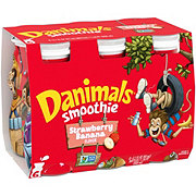 Dannon Danimals Swingin' Strawberry Banana Smoothie 3.1 oz Bottles