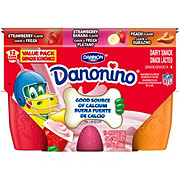 Dannon Danonino Strawberry, Stawberry Banana and Vanilla Dairy Snack Value Pack