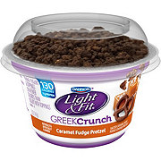 Dannon Light U0026 Fit Greek Crunch Caramel Fudge Pretzel Greek Yogurt   Shop  Yogurt At HEB