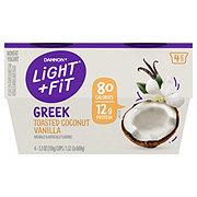 Dannon Light & Fit Non-Fat Toasted Coconut Vanilla Greek Yogurt