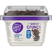 Dannon Light And Fit Greek Crunch Cookies & Cream