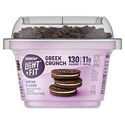 Dannon Light & Fit Greek Crunch Non-Fat Cookies & Cream Greek Yogurt