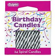 Decopac Black Spiral Candles
