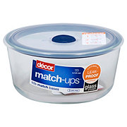 Decor Matchups Glass Real Seal 63 Cup Round Navy Shop Food