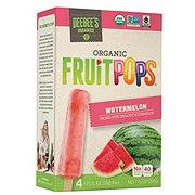Deebee's Organic Fruit Pops Fresh Watermelon