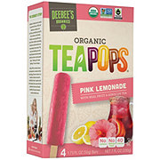 Deebee's Organic Tea Pops Pink Lemonade