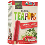 Deebee's Organic Tea Pops Strawberry Harvest