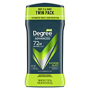 Degree Men Advanced Protection Extreme Blast Antiperspirant Deodorant Invisible Solid, Twin Pack