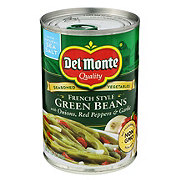 Del Monte Blue Lake French Style Seasoned Green Beans With Onions, Red Peppers, and Garlic