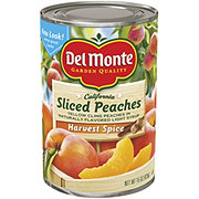Del Monte California Sliced Peaches in Naturally Flavored Light Syrup Harvest Spice