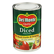 Del Monte Diced Tomatoes with Basil Garlic and Oregano