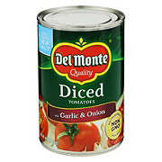 Del Monte Diced Tomatoes With Garlic and Onion