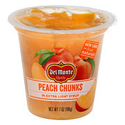 Del Monte Fruit Naturals Yellow Cling Peach Chunks In 100% Juice