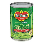 Del Monte No Salt Added Blue Lake French Style Green Beans