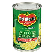 Del Monte No Salt Added Golden Sweet Corn Cream Style