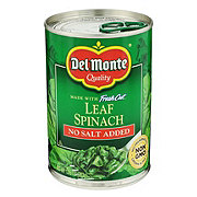 Del Monte No Salt Added Leaf Spinach