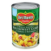 Del Monte Whole Kernel Southwest Corn With Poblano & Red Peppers