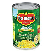 Del Monte Whole Kernel Sweet Fiesta Corn Seasoned With Red & Green Peppers