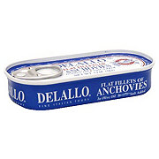 DeLallo Flat Fillets of Anchovies in Olive Oil
