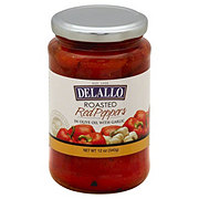 DeLallo Mild Roasted Peppers with Garlic in Olive Oil