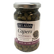DeLallo Nonpareil Capers in Vinegar with Salt