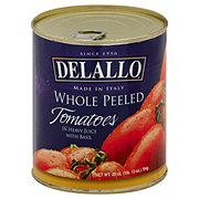 DeLallo Whole Peeled Plum Tomatoes in Heavy Juice with Basil