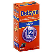 Delsym 12 Hour Cough Relief Day or Night Cough Suppressant Grape Flavored Liquid