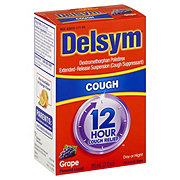Delsym 12 Hour Cough Relief Grape Flavored Liquid